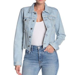 NWT GRLFRND Cara Raw Hem Denim Jacket Size XS